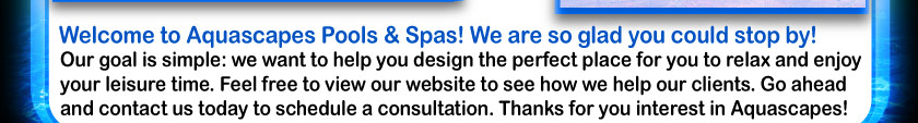 Welcome To Aquascapes Pools And Spas Home